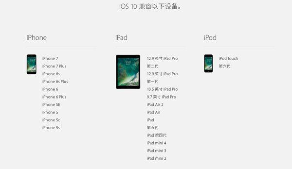 那些苹果机型能够升级?