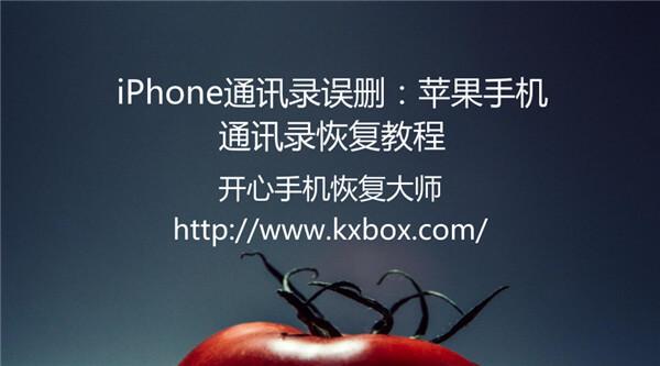 iPhone通讯录误删怎么恢复