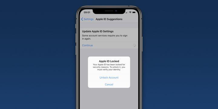 用户发现 Apple ID 被锁,需要重置密码